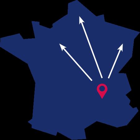 Carte de France Transports Daniel